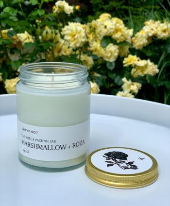 Świeca Sojowa Marshmallow + Róża - Why Knot