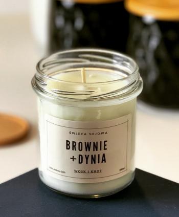 Świeca Sojowa Brownie i Dynia - Wosk i Knot