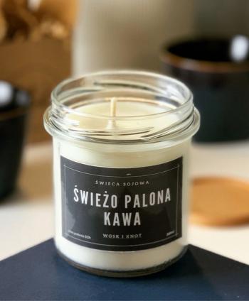 Świeca Sojowa Świeżo Palona Kawa - Wosk i Knot