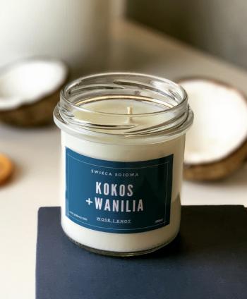 Świeca Sojowa Kokos + Wanilia - Wosk i Knot