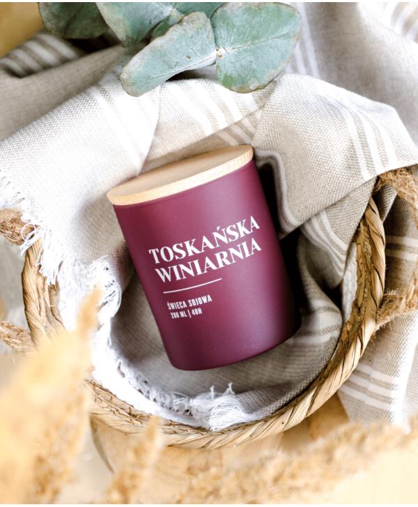 Świeca Sojowa Toskańska Winiarnia - Wosk i Knot