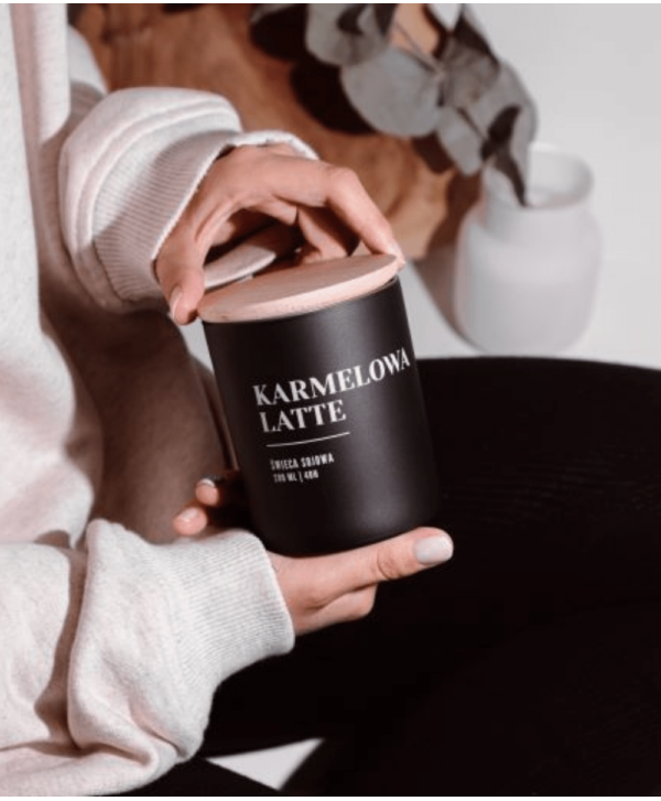 Świeca Sojowa Karmelowe Latte - Wosk i Knot