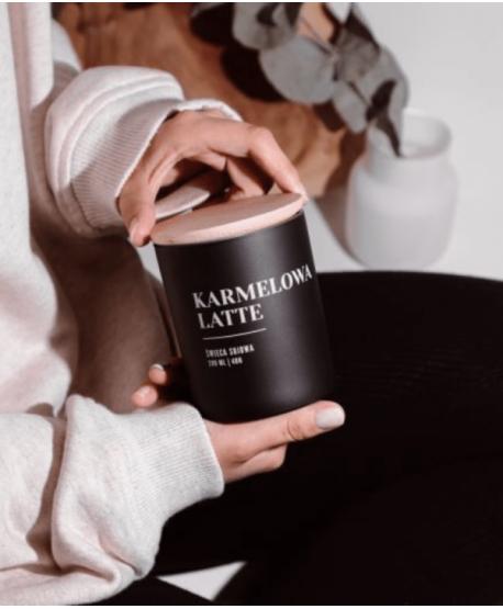 Świeca Sojowa Karmelowa Latte - Wosk i Knot