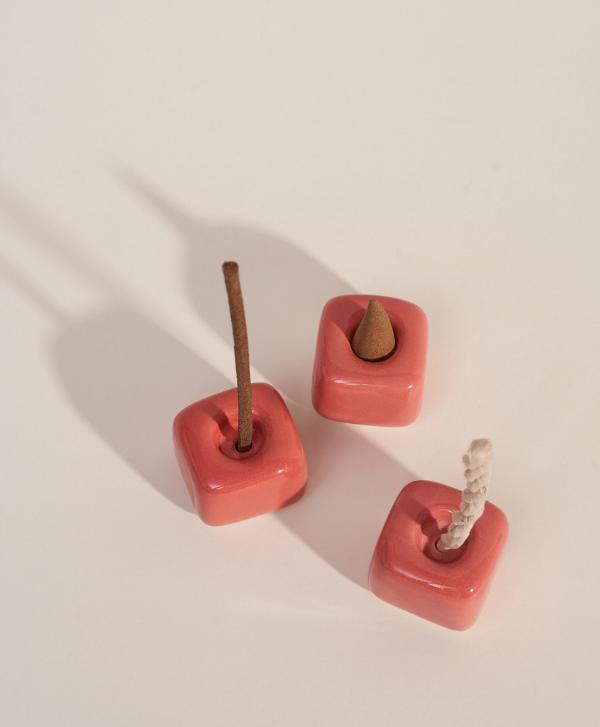 Ceramiczna Podstawka Cube Coral - Purnama Rituals