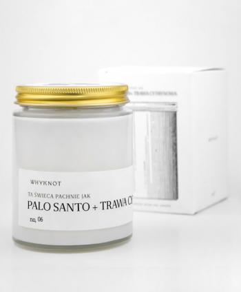 Palo Santo + Trawa Cytrynowa Świeca Sojowa - WHY KNOT